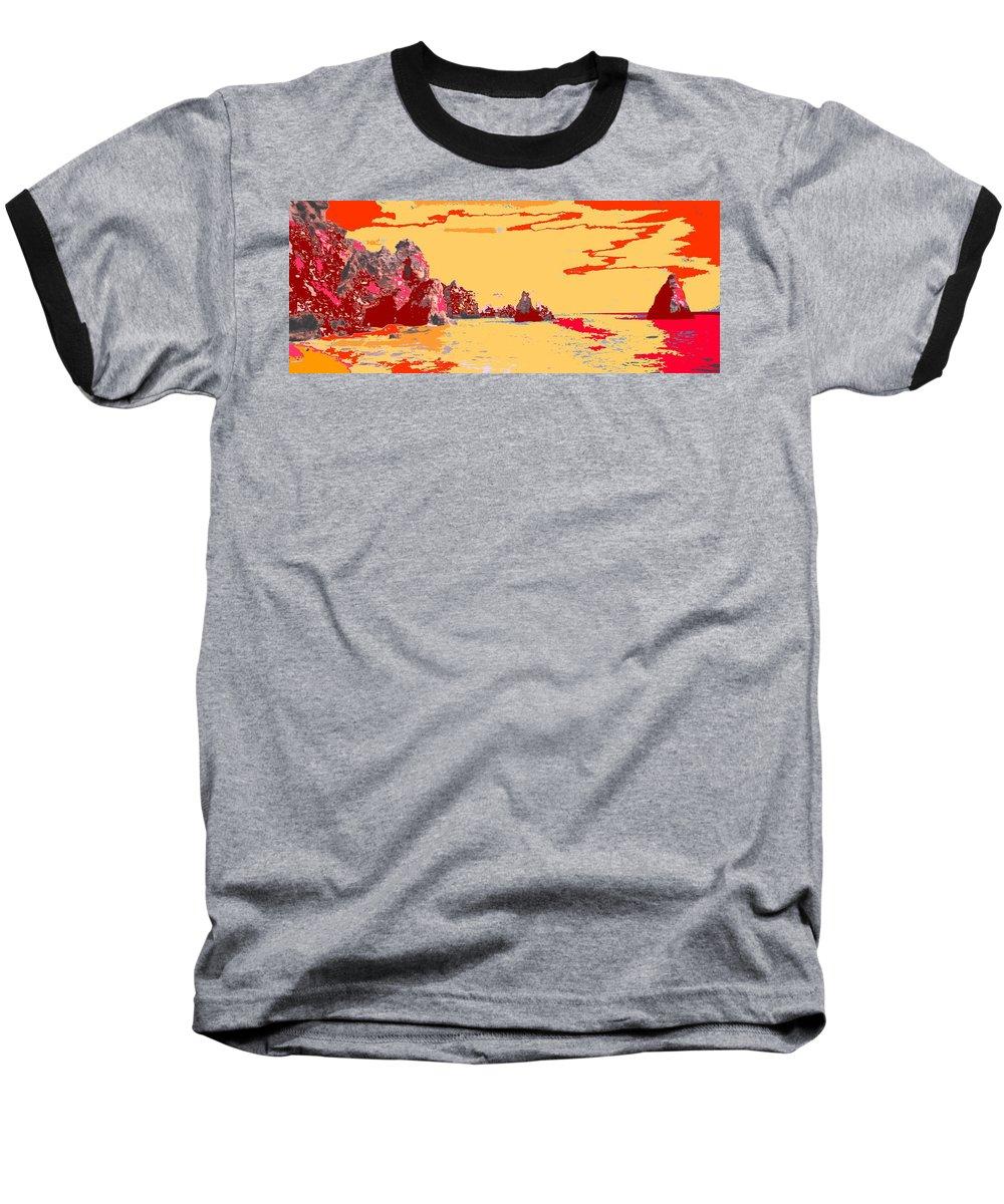 Mediterranean Baseball T-Shirt featuring the photograph Algarve Sunrise by Ian MacDonald