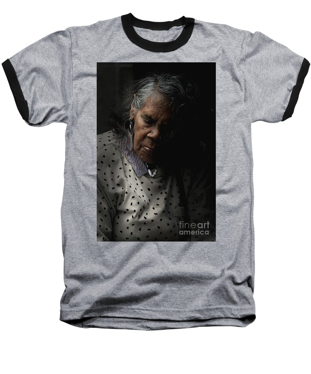 Portrait Baseball T-Shirt featuring the photograph Alice by Sheila Smart Fine Art Photography