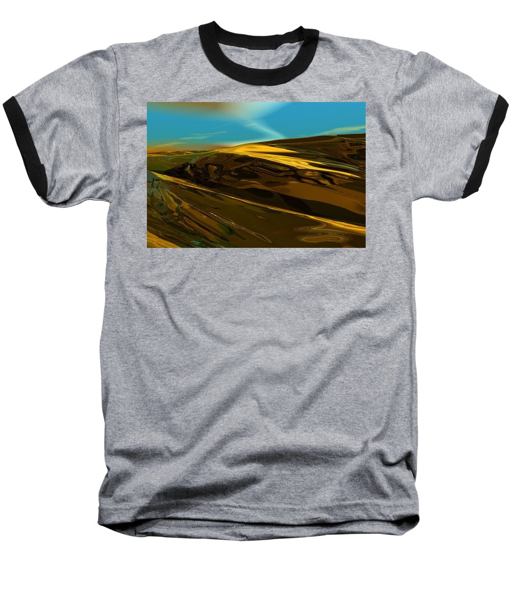 Landscape Baseball T-Shirt featuring the digital art Alien Landscape 2-28-09 by David Lane