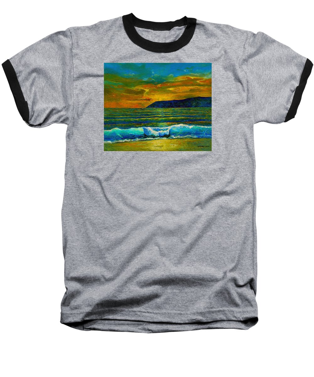 Seascape Baseball T-Shirt featuring the painting Along The African Coast by Michael Durst