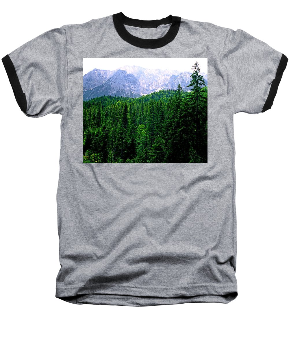 Bavaria Baseball T-Shirt featuring the photograph Alpine Forest by Kevin Smith