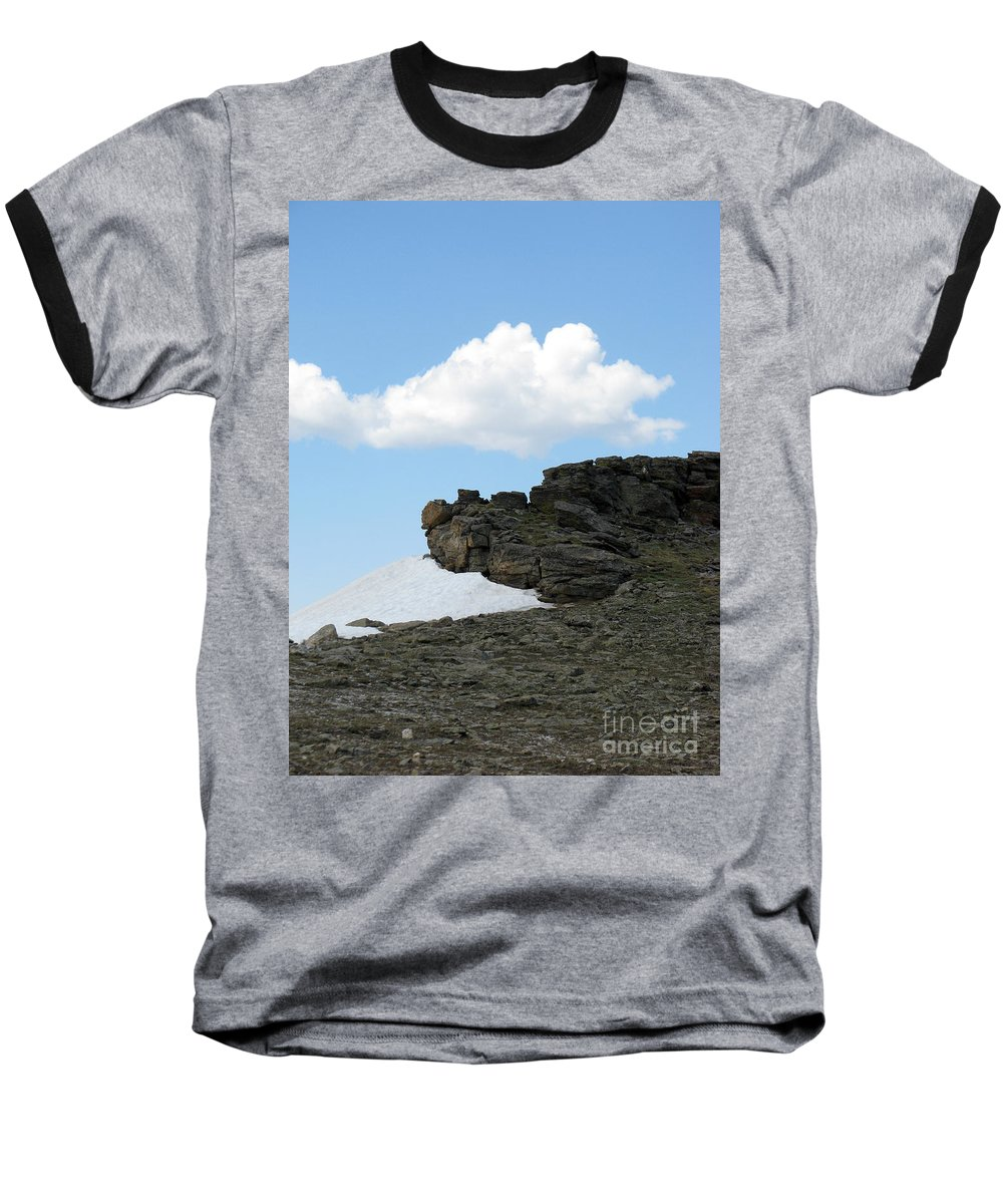 Rocky Mountains Baseball T-Shirt featuring the photograph Alpine Tundra - Up In The Clouds by Amanda Barcon
