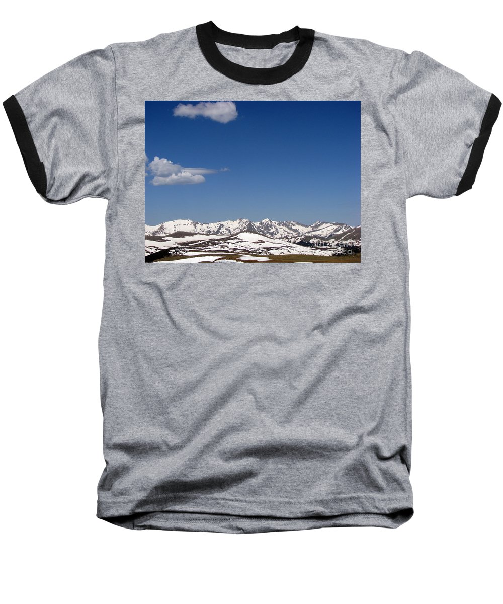 Mountains Baseball T-Shirt featuring the photograph Alpine Tundra Series by Amanda Barcon