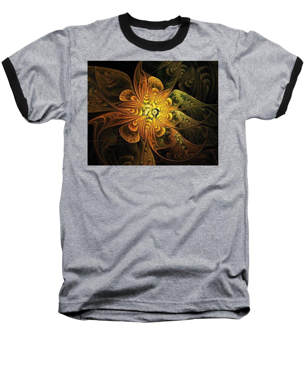 Digital Art Baseball T-Shirt featuring the digital art Amber Light by Amanda Moore
