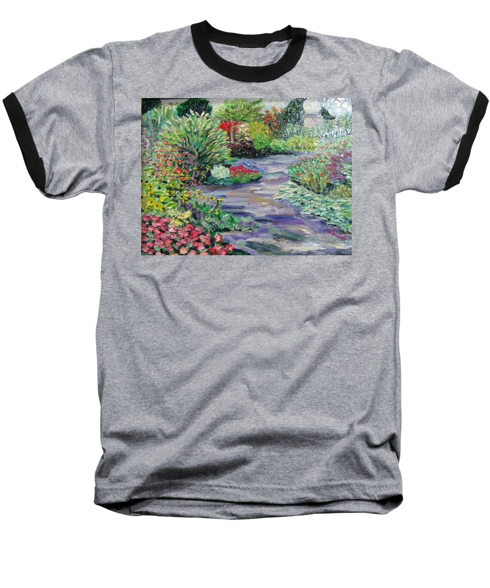 Park Baseball T-Shirt featuring the painting Amelia Park Blossoms by Richard Nowak