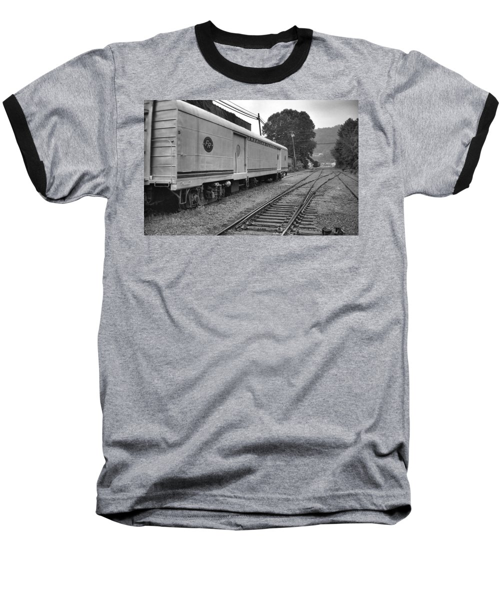 Trains Baseball T-Shirt featuring the photograph American Federail by Richard Rizzo