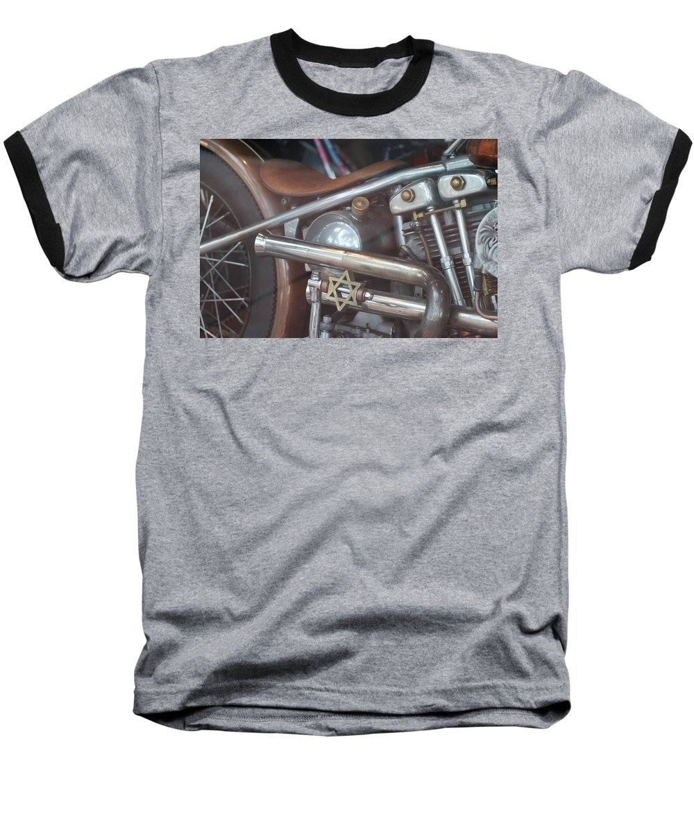 Motorcycle Baseball T-Shirt featuring the photograph Ami's Bike by Rob Hans