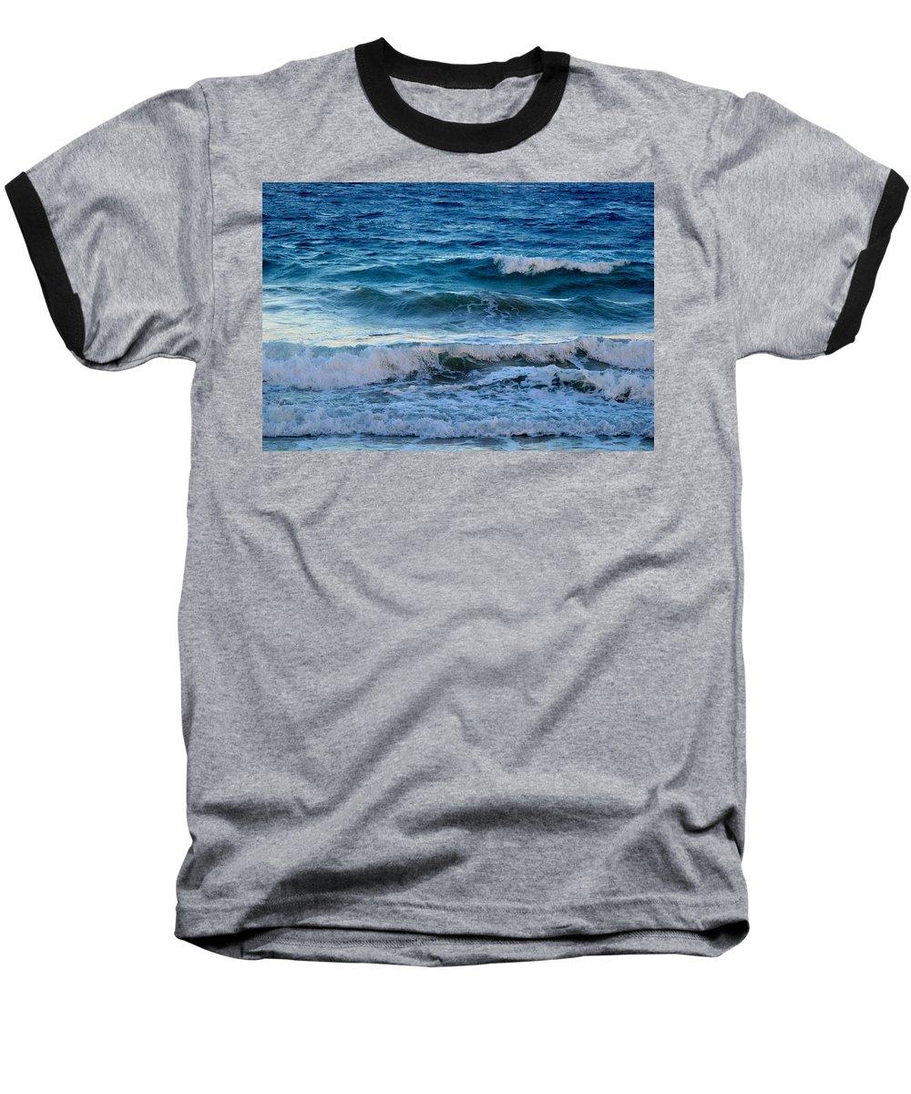 Sea Baseball T-Shirt featuring the photograph An Unforgiving Sea by Ian MacDonald