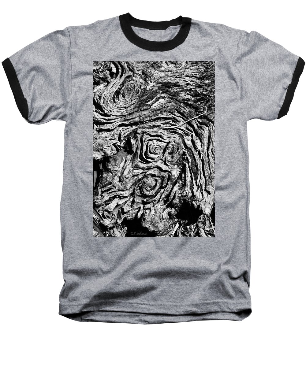 Tree Baseball T-Shirt featuring the photograph Ancient Stump by Christopher Holmes