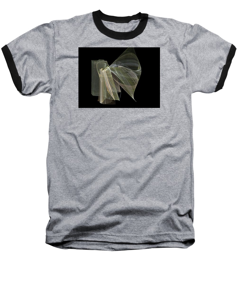 Experimental Baseball T-Shirt featuring the digital art And The Angel Spoke..... by Jackie Mueller-Jones