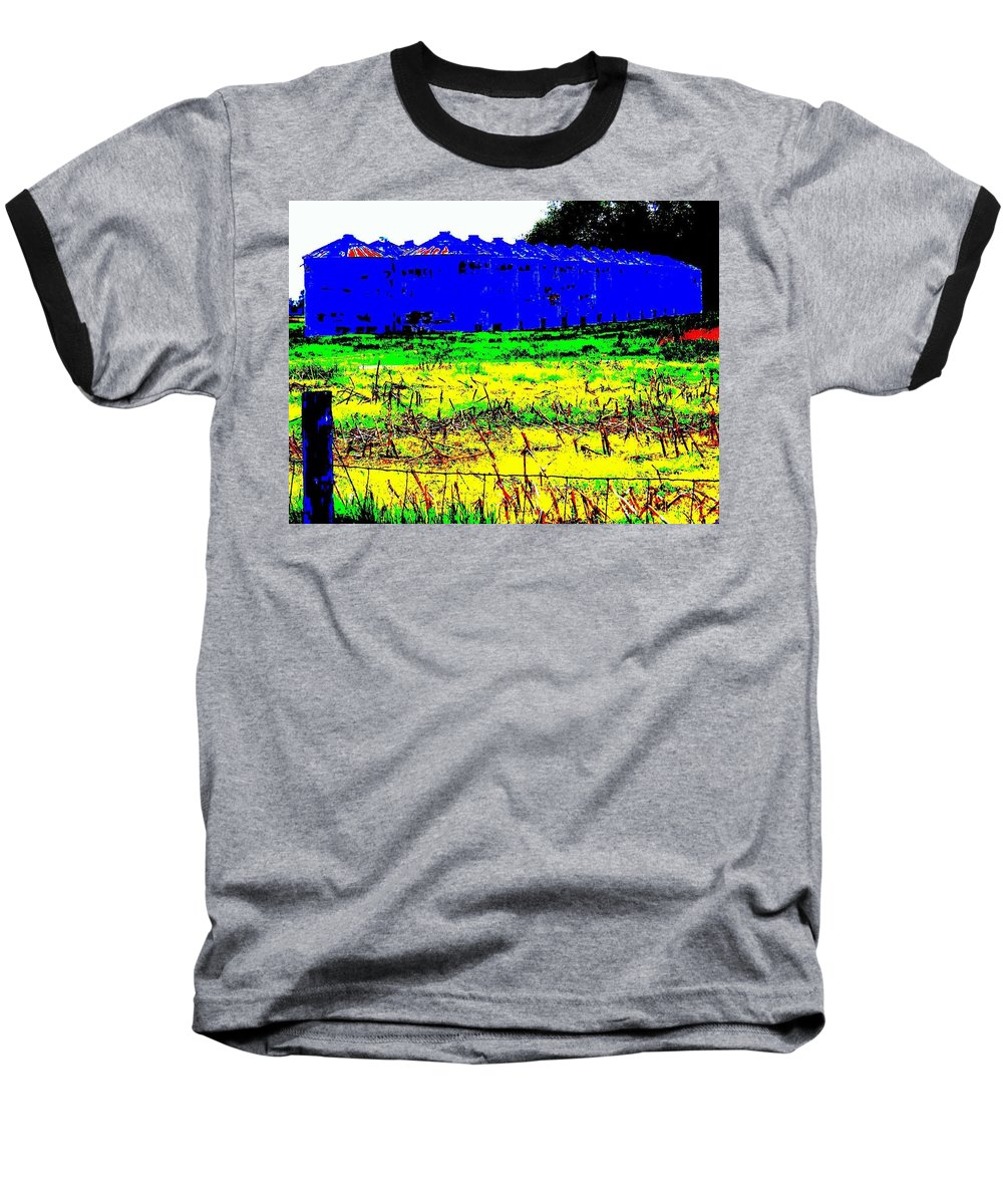 Landscape Baseball T-Shirt featuring the photograph Andys Farm by Ed Smith