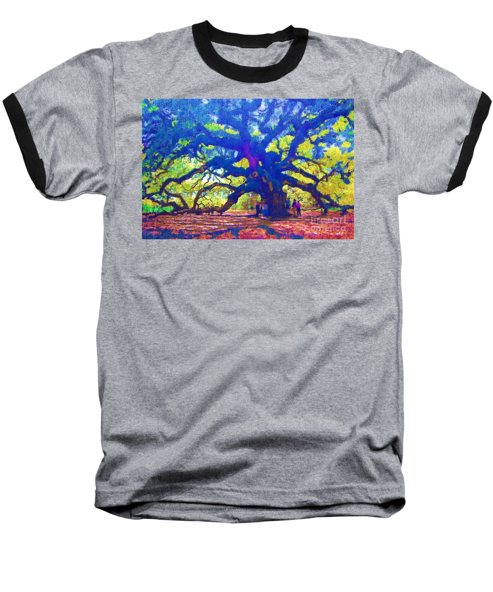 Tree Baseball T-Shirt featuring the photograph Angel Oak Tree by Donna Bentley