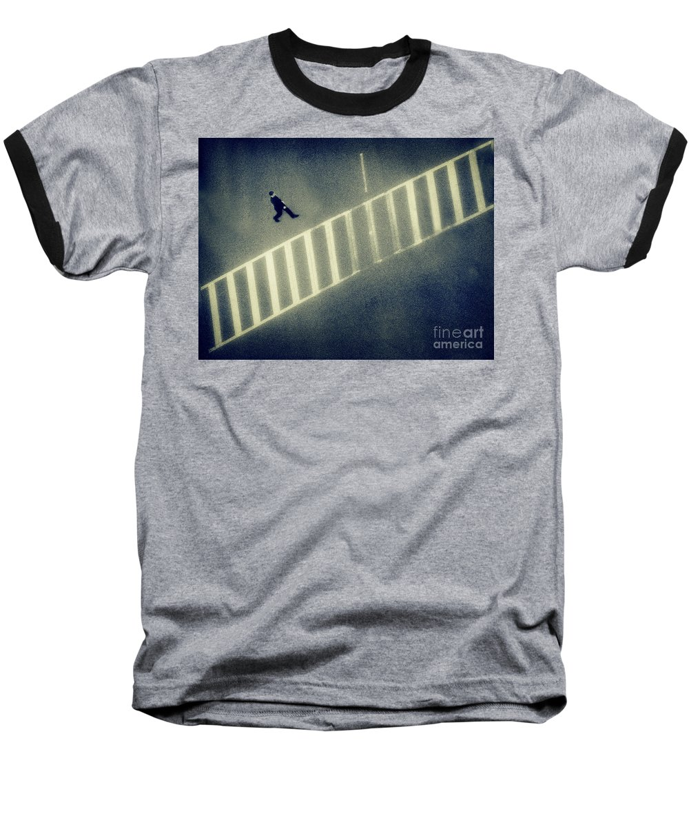 City Baseball T-Shirt featuring the photograph Anonymity by Dana DiPasquale