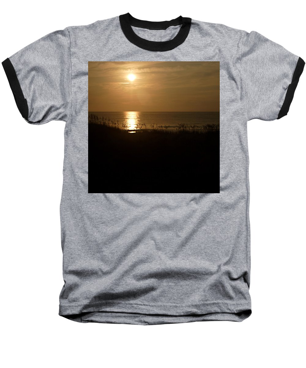 Color Baseball T-Shirt featuring the photograph Another Day Ends by Jean Macaluso