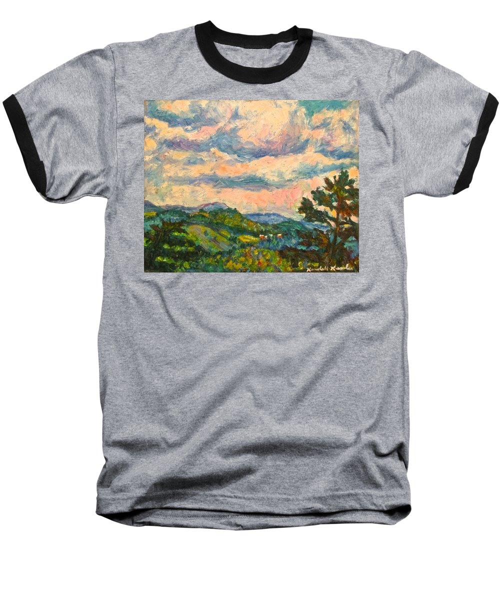 Landscape Paintings Baseball T-Shirt featuring the painting Another Rocky Knob by Kendall Kessler