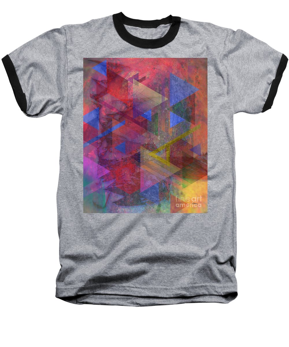 Another Time Baseball T-Shirt featuring the digital art Another Time by John Beck
