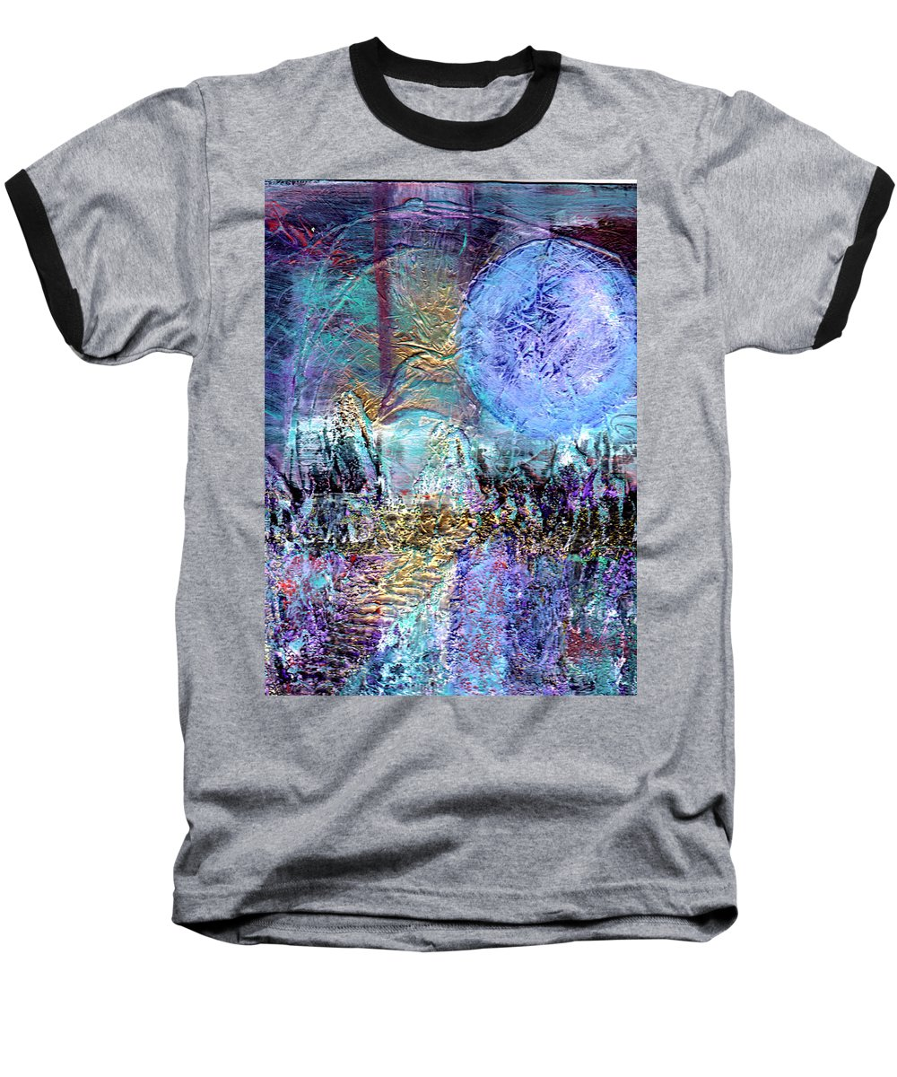 Surreal Baseball T-Shirt featuring the painting Another World by Wayne Potrafka