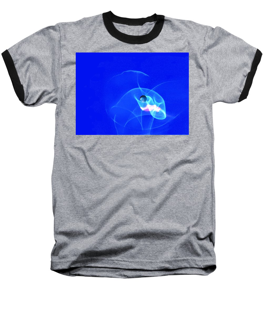 Abstract Baseball T-Shirt featuring the photograph Apparition Pearl by Steve Karol