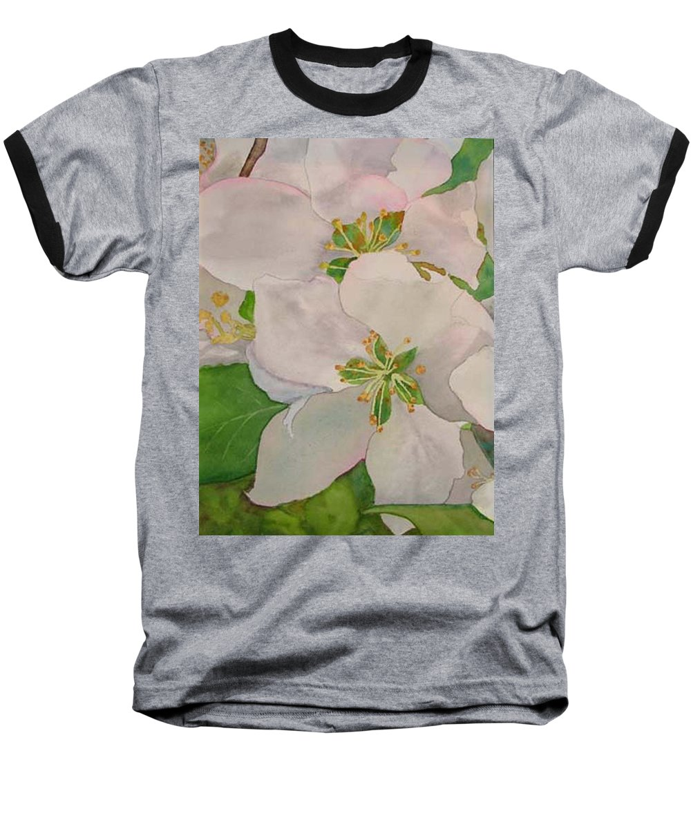 Apple Blossoms Baseball T-Shirt featuring the painting Apple Blossoms by Sharon E Allen