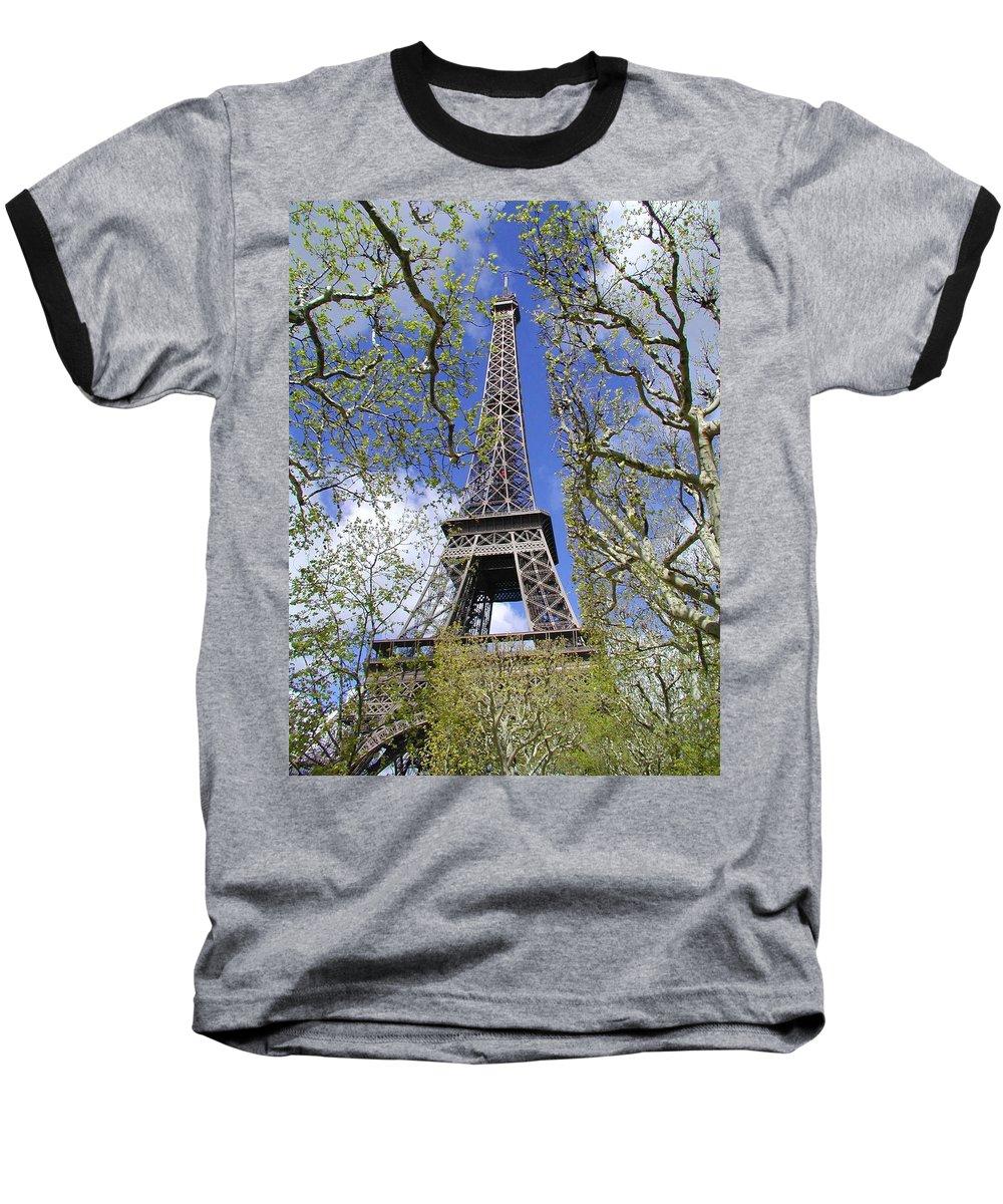 Paris Baseball T-Shirt featuring the photograph April In Paris by Tom Reynen