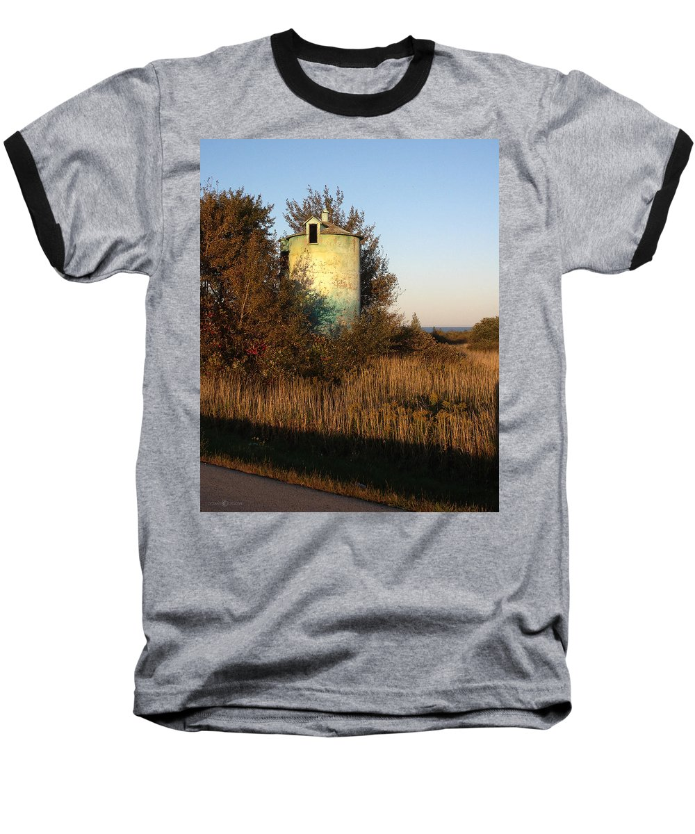 Silo Baseball T-Shirt featuring the photograph Aqua Silo by Tim Nyberg