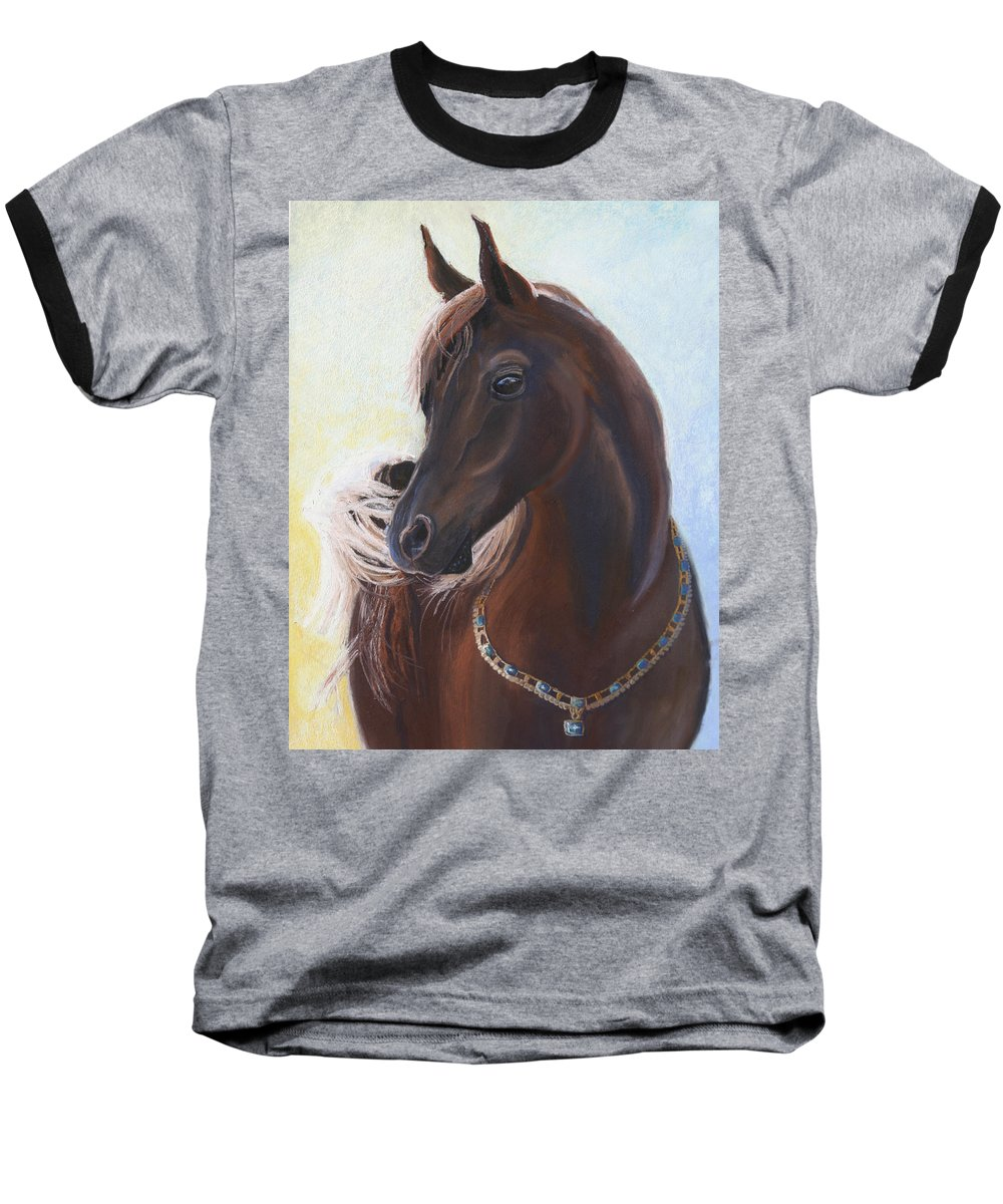 Horse Baseball T-Shirt featuring the painting Arabian Prince by Heather Coen