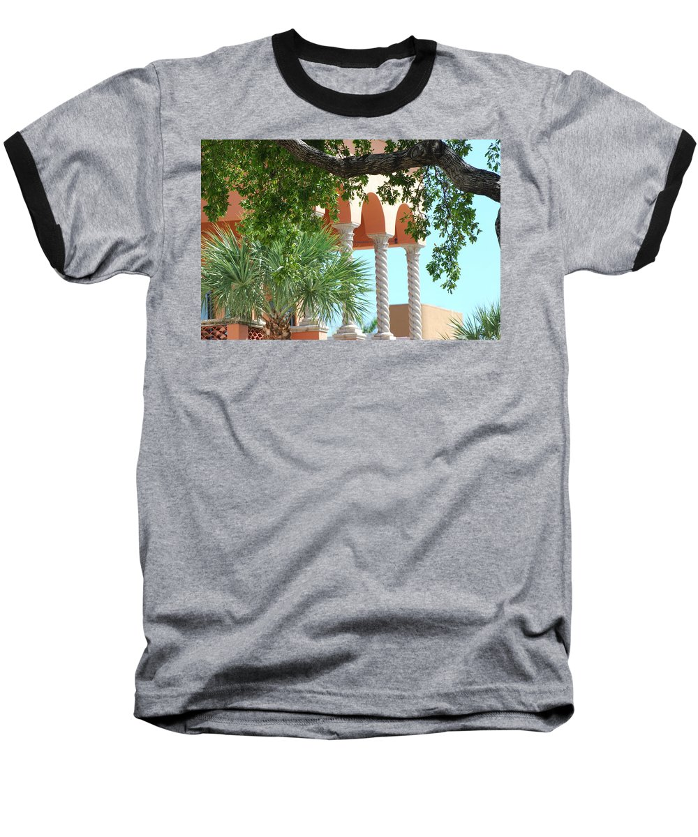 Architecture Baseball T-Shirt featuring the photograph Arches Thru The Trees by Rob Hans