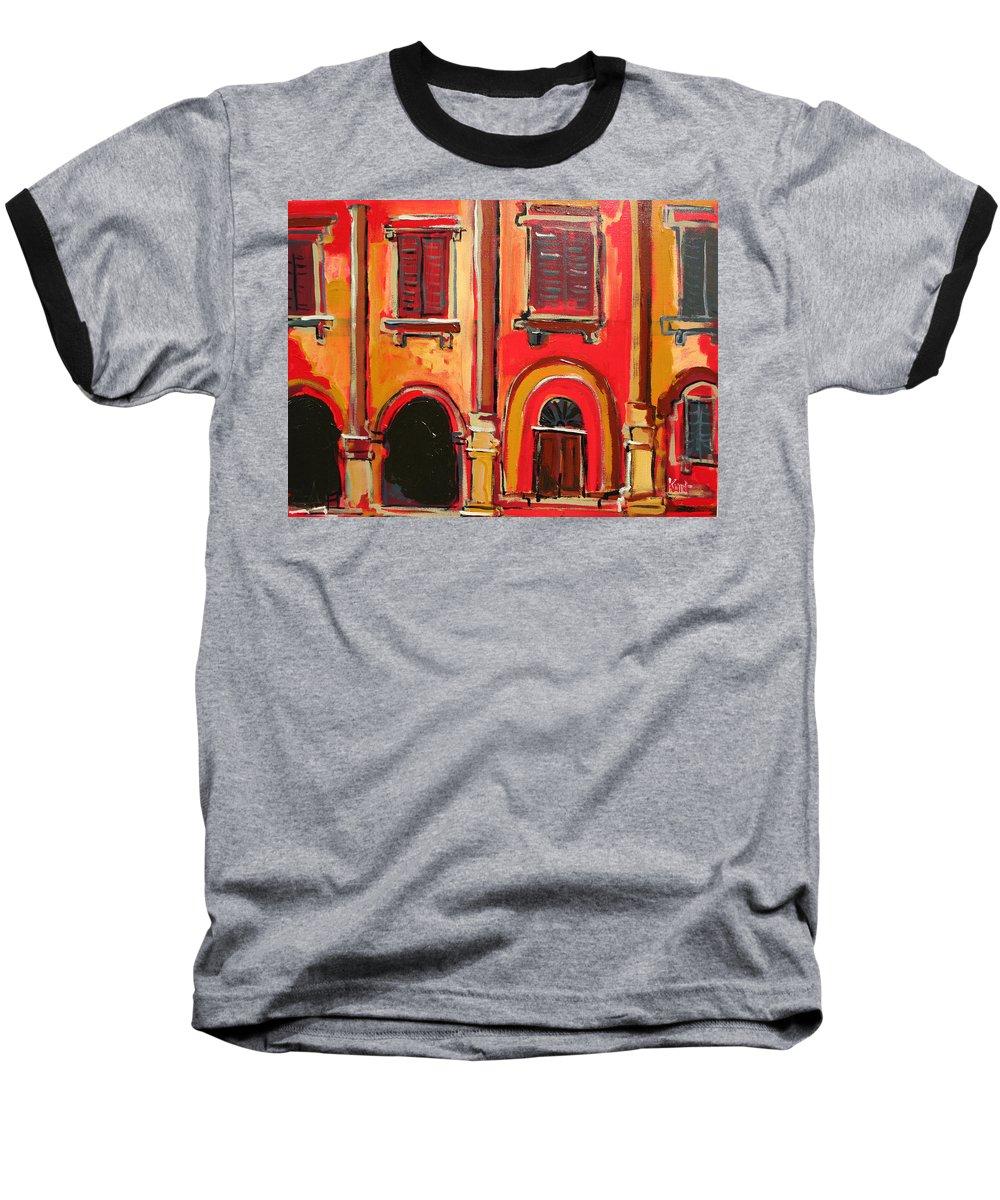 Tuscany Baseball T-Shirt featuring the painting Arco Di Firenze by Kurt Hausmann