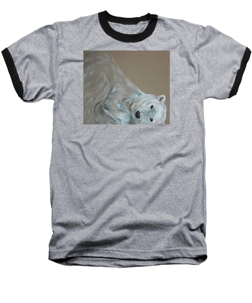 Polar Bear Baseball T-Shirt featuring the drawing Arctic Frolic by Cori Solomon