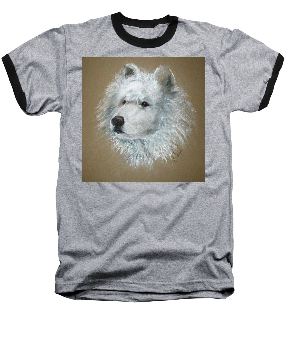 Pastel Baseball T-Shirt featuring the drawing Arctic Majestry by Cori Solomon