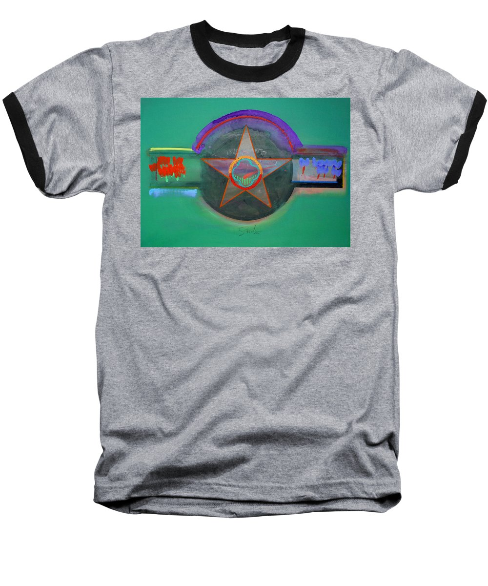 Star Baseball T-Shirt featuring the painting Arlington Green by Charles Stuart