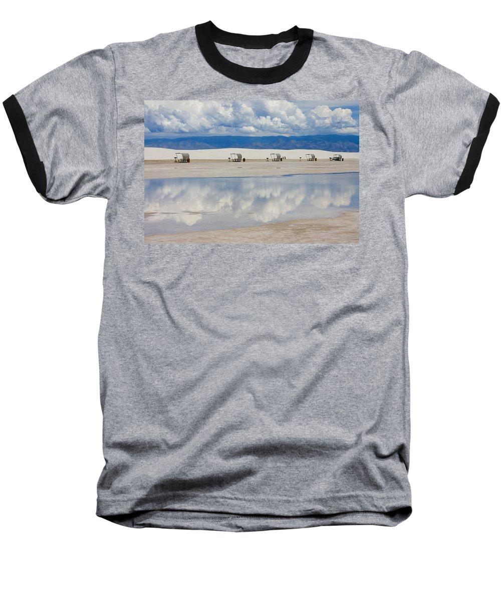 New Mexico Baseball T-Shirt featuring the photograph Armageddon Picnic by Skip Hunt