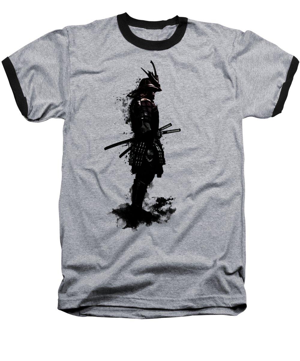 Samurai Baseball T-Shirt featuring the mixed media Armored Samurai by Nicklas Gustafsson