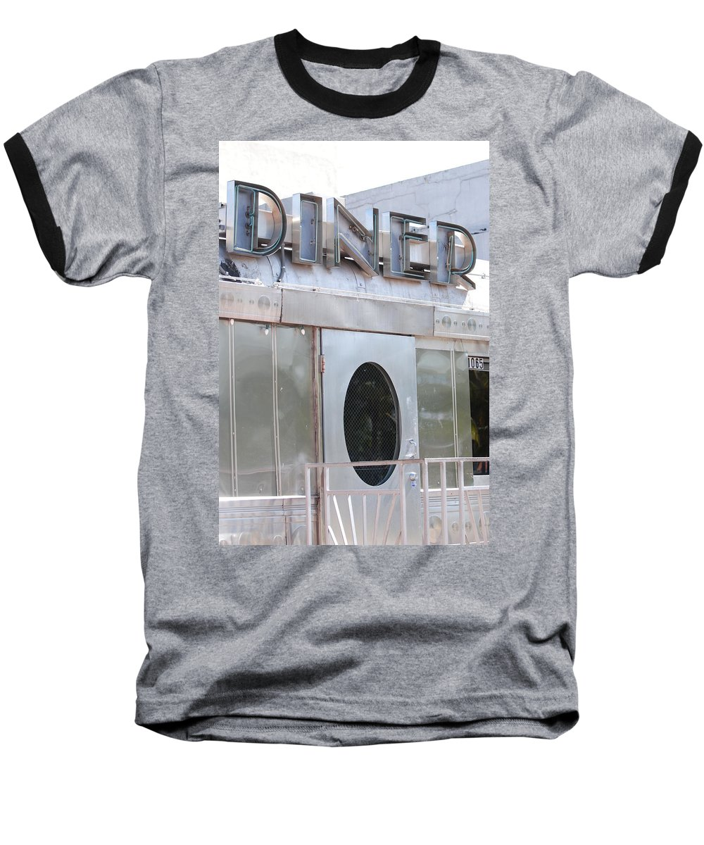 Architecture Baseball T-Shirt featuring the photograph Art Deco Diner by Rob Hans
