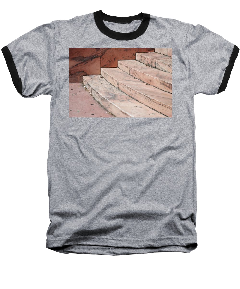 Architecture Baseball T-Shirt featuring the photograph Art Deco Steps by Rob Hans