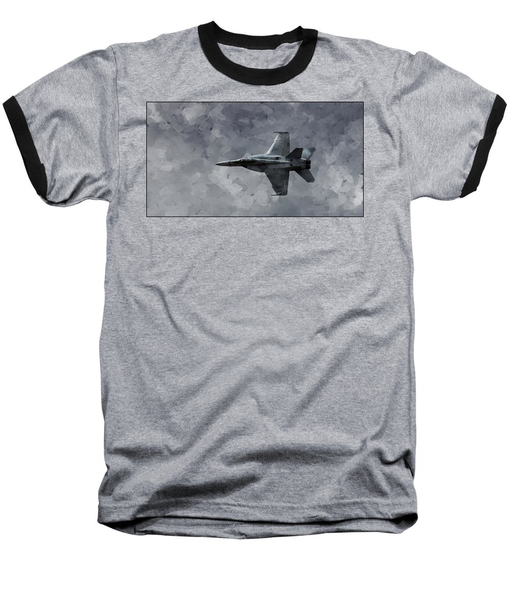 F18 Baseball T-Shirt featuring the photograph Art In Flight F-18 Fighter by Aaron Lee Berg