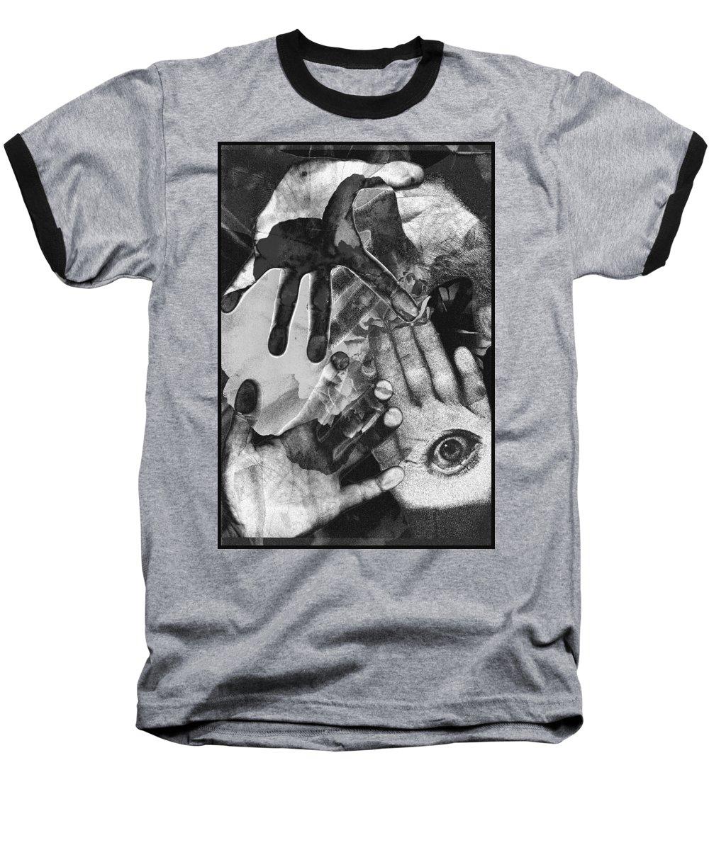 Hands Baseball T-Shirt featuring the photograph Artist's Hands by Nancy Mueller