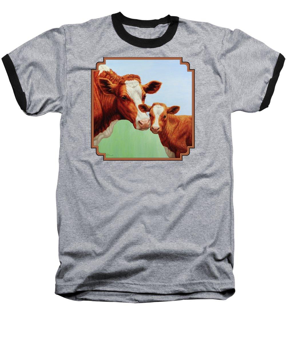 Cow Baseball T-Shirts