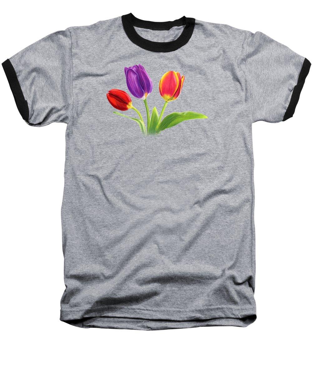 Tulips Baseball T-Shirts