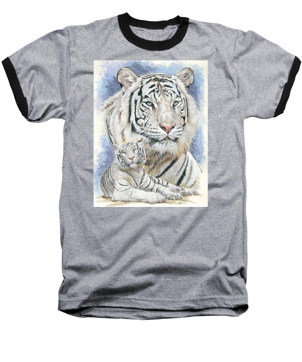 Big Cat Baseball T-Shirt featuring the mixed media Dignity by Barbara Keith
