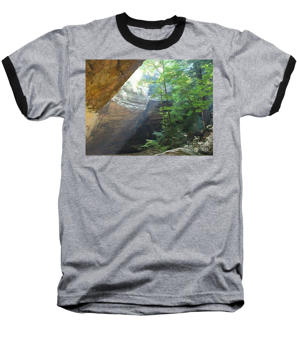 Photograph Baseball T-Shirt featuring the photograph Ash Cave by Mindy Newman