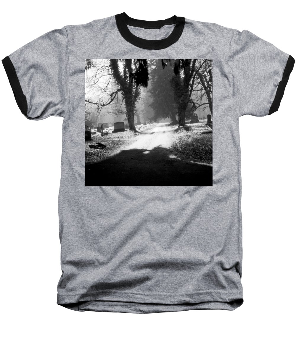 Photograph Baseball T-Shirt featuring the photograph Ashland Cemetery by Jean Macaluso