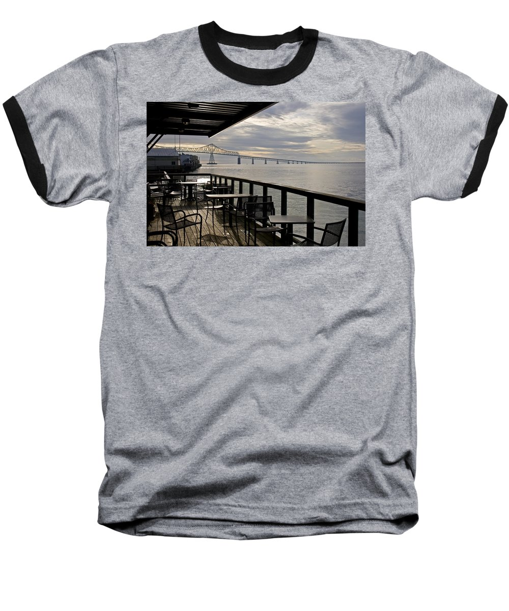 Scenic Baseball T-Shirt featuring the photograph Astoria by Lee Santa