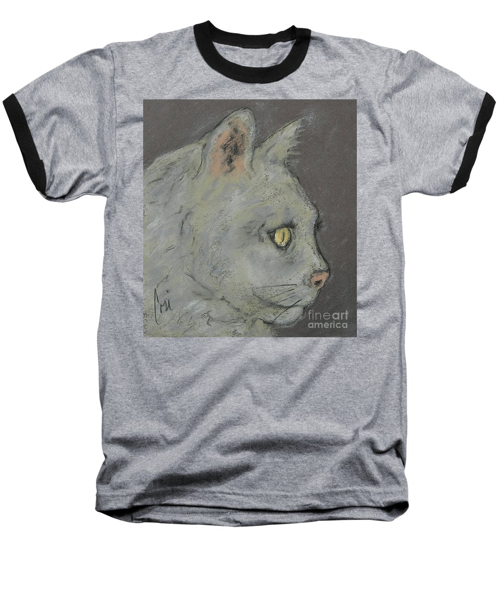 Pastels Baseball T-Shirt featuring the drawing At Peace by Cori Solomon
