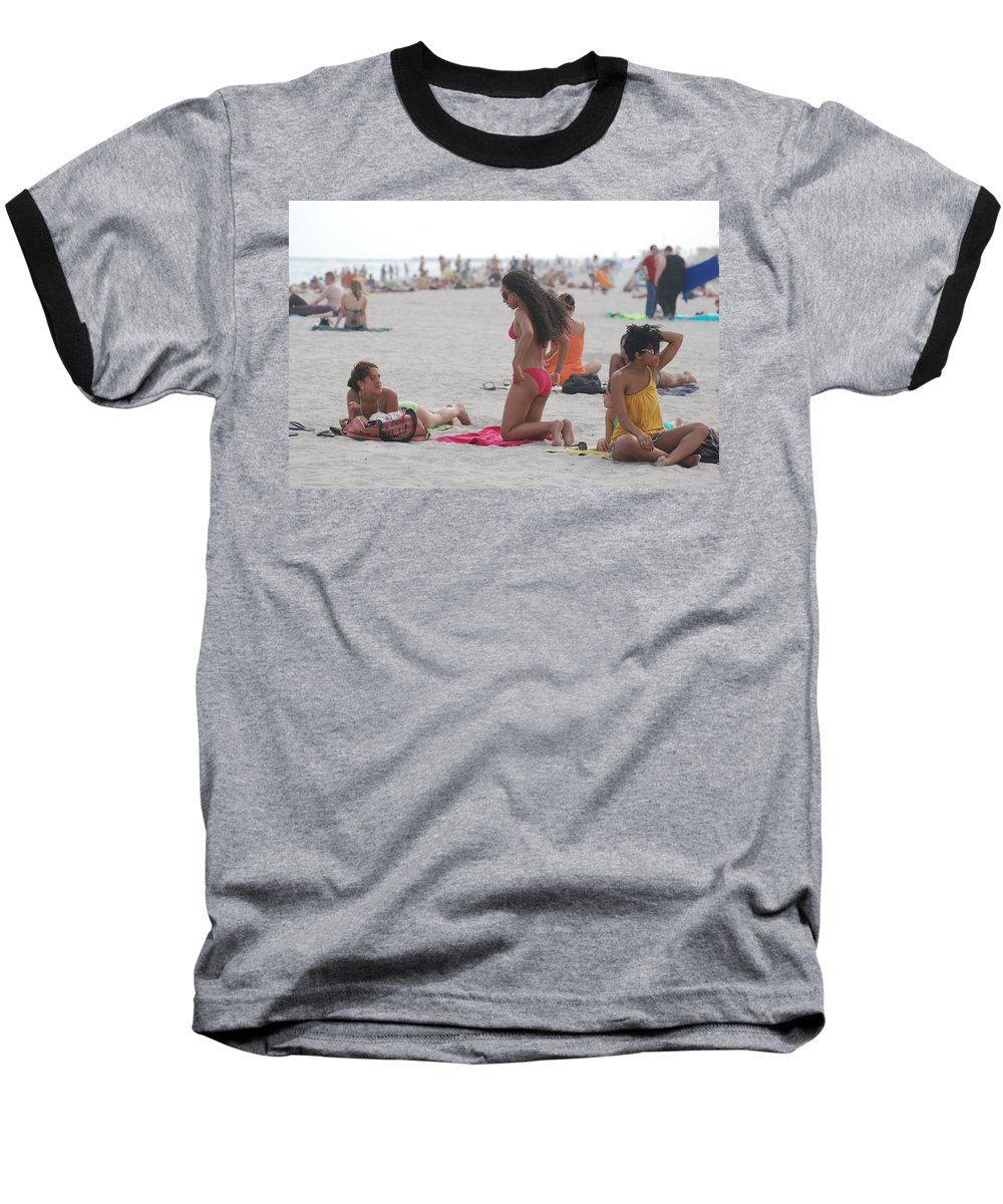 Girls Baseball T-Shirt featuring the photograph At The Beach by Rob Hans