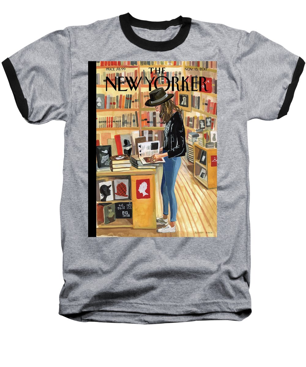 At The Strand Baseball T-Shirt featuring the painting At The Strand by Jenny Kroik
