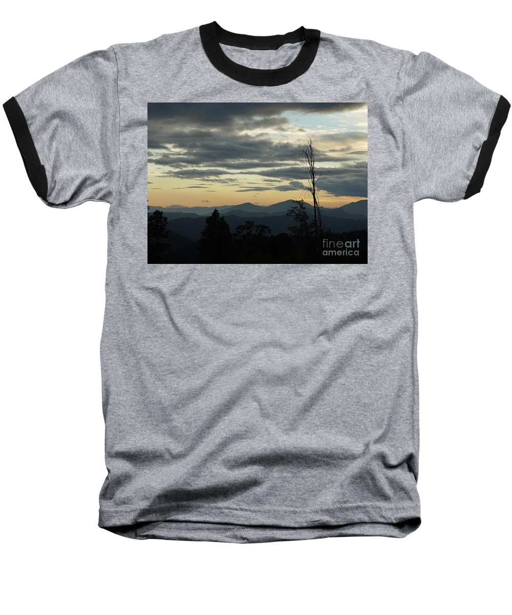 Atmospheric Baseball T-Shirt featuring the photograph Atmospheric Perspective by Peter Piatt