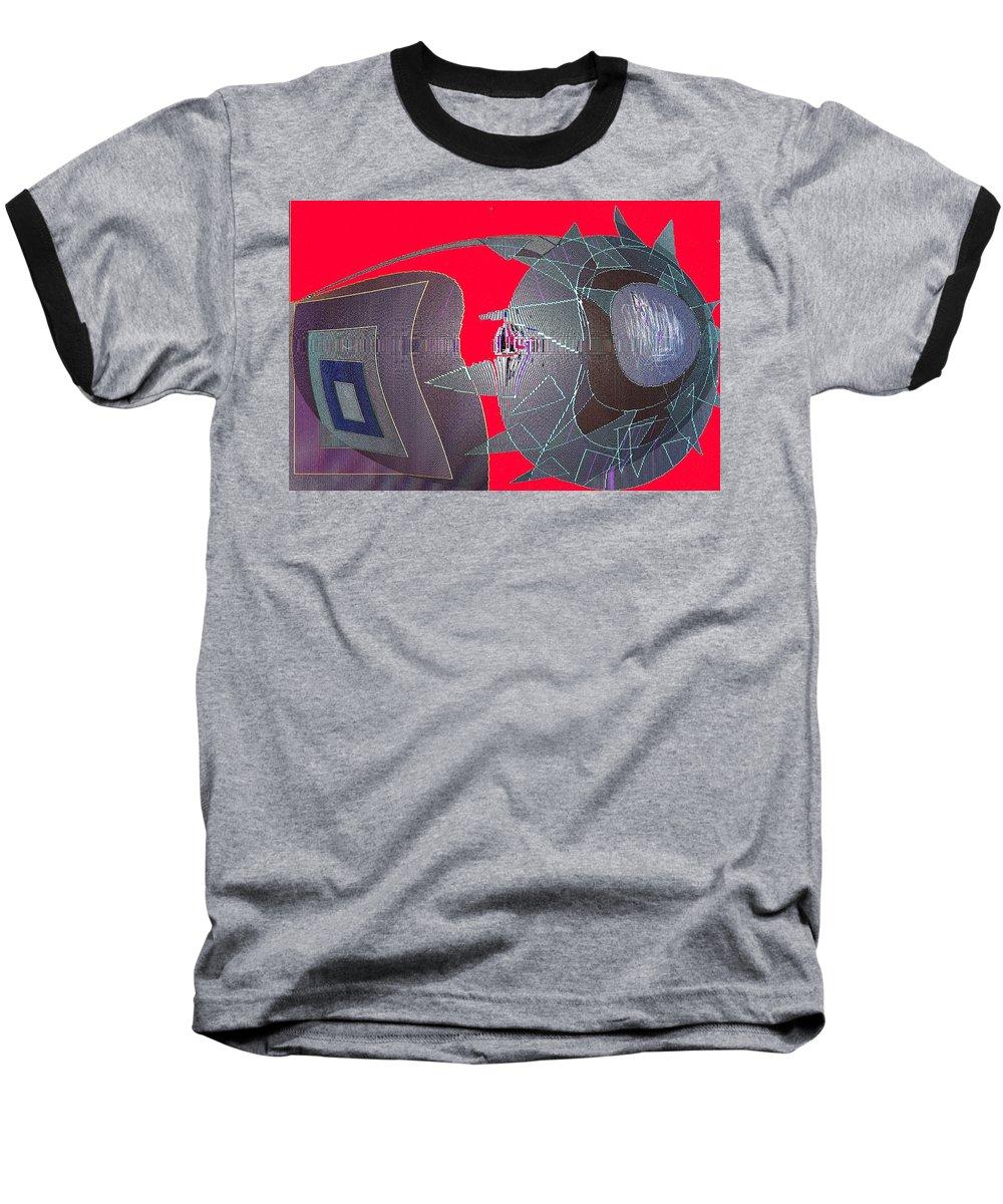 Digital Baseball T-Shirt featuring the digital art Attack by Ian MacDonald