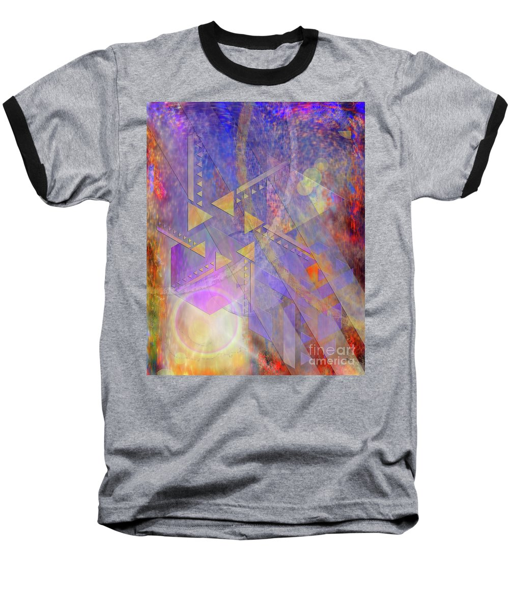 Aurora Aperture Baseball T-Shirt featuring the digital art Aurora Aperture by John Beck