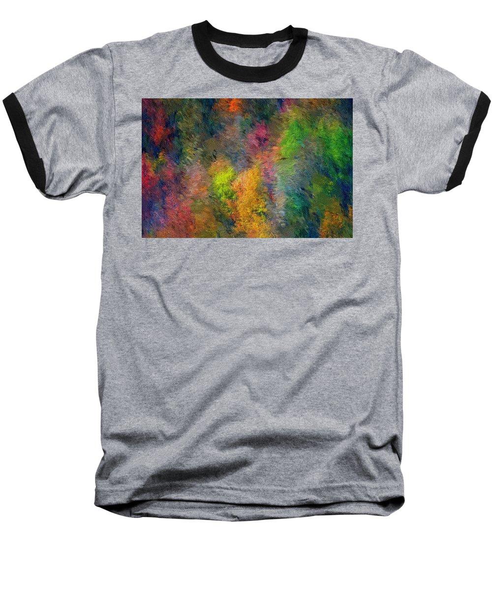 Landscape Baseball T-Shirt featuring the digital art Autum Hillside by David Lane